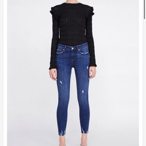 NWT Zara The Skinny mid rise Jeans in Zaphire Blue